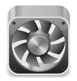 Icon for computer cooler vector image vector image