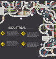industrial pipeline background vector image
