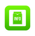 info folder icon digital green vector image vector image