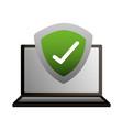 laptop shield protection check mark vector image vector image