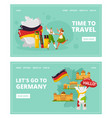 learning german language and travel to germany vector image vector image