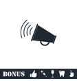 Megaphone icon flat vector image vector image