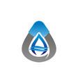 mining exploration logo design template vector image vector image