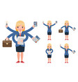 multitasking businesswoman cute young professional vector image