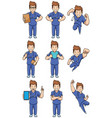 nurse caucasian male set vector image vector image