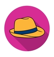 Panama hat icon in flat style isolated on white vector image