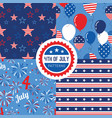 pattern set national colors united vector image vector image