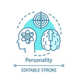 personality turquoise concept icon brain thinking vector image