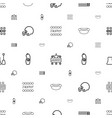 poster icons pattern seamless white background vector image vector image