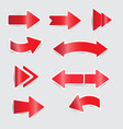 red arrow stickers with shadow vector image