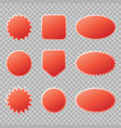 red sale badges set for your design vector image