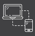 responsive web design line icon seo development vector image vector image