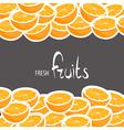 ripe oranges vector image vector image