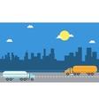 road tanker landscape vector image vector image
