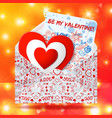 romantic greeting concept vector image vector image