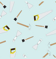 seamless background with building tools vector image vector image