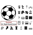 Set of 24 Football Icons vector image vector image