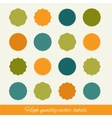 set of circle labels vector image