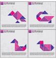 Set of tangram birds vector image