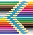 Sets of pencils vector image vector image