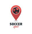 soccer football logo template creative sport ball vector image vector image