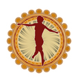 sport emblem jumping vector image