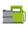station gas and barrel oil energy renewable vector image