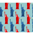 Statue of Liberty seamless pattern USA national vector image vector image
