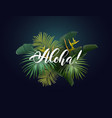 summer tropical design with exotic green vector image vector image
