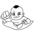 super baby black line art vector image vector image