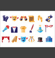 theatre icons set theatrical acting performance vector image