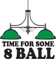 Time For Some 8 Ball vector image vector image