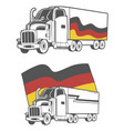 truck with german flag vector image vector image