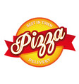 vintage pizza sign lettering stamp vector image