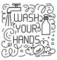 wash your hand concept vector image