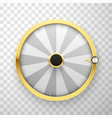 wheel fortune isolated on clear background vector image