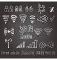 WiFi signs vector image