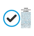 Yes Rounded Icon with 1000 Bonus Icons vector image vector image