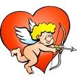 an Angel boy with a bow and arrow vector image