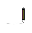pencil with line color vector image