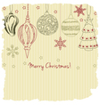 2015 Merry Christmas greeting card vector image vector image