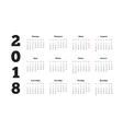 2018 year simple calendar on russian language vector image