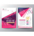 abstract triangle shape poster brochure flyer