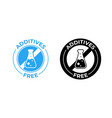 additives free icon additives free no added vector image vector image
