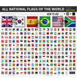 all official national flags world old vector image vector image