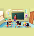 angry nervous teacher cartoon concept vector image
