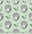 animal print meditating lemur seamless pattern vector image vector image