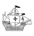 antique caravel ship navigation icon