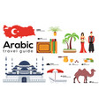 arabic travel guide template set turkish vector image