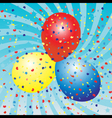 balloons celebration vector image vector image